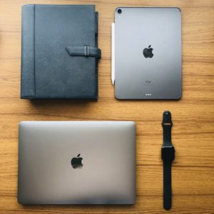システム手帳とiPadProとMacBookProとAppleWatch